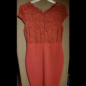 Windsor Plus size Burgandy Bodycon dress